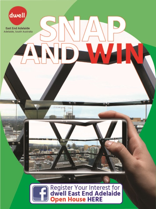 Snap and Win at dwell East End Adelaide Open Day