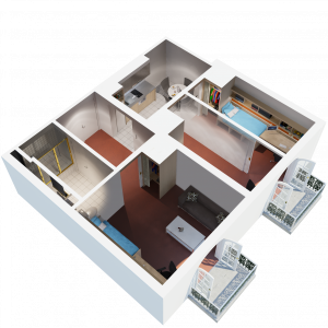 floorplan of our large 3 bedroom student housing apartment in melbourne